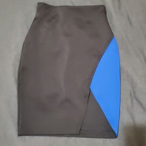 GUESS black and blue skirt with cut out
